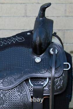 HORSE SADDLE WESTERN USED TRAIL RIDER LEATHER TACK 15 16 17 18 in