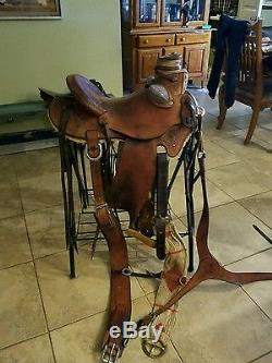 Handmade Western Saddle By Hulbert Custom Saddlery Wade Tree