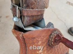 Hereford Working Western Ranch Saddle with Rope Holder and Tapaderos 15 seat