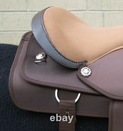 Horse Saddle Western Used Comfy Trail Barrel Synthetic Brown Tack 14 15 16