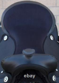 Horse Saddle Western Used Pleasure Trail Barrel Cordura Black Tack 15 16 17 18