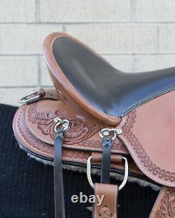 Horse Saddle Western Used Pleasure Trail Barrel Racing Leather Tack 16