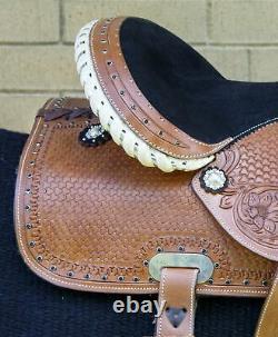 Horse Saddle Western Used Pleasure Trail Barrel Show Leather Tack Set 15 16 17