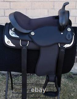 Horse Saddle Western Used Pleasure Trail Light Weight Cordura Tack 15 16 17 18