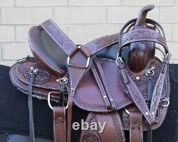 Horse Saddle Western Used Trail Gaited All Purpose Leather Tack Set 16 17 18