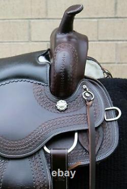Horse Saddle Western Used Trail Gaited Custom Pro Leather Tack Set 15 16