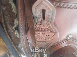 Jeff Smith Custom Cutting Saddle 16 5 Slightly Used