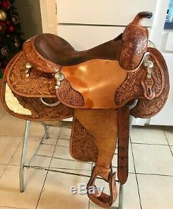 John Slack Reiner Western Pleasure Show Saddle 16 Inch