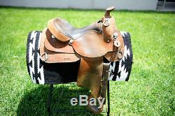 Johnny Ruff 16 Work Trainer Roughout Western Saddle