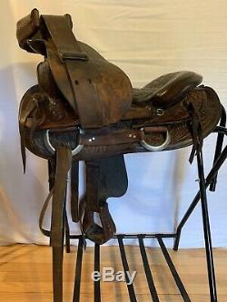 Longhorn Western Trail Saddle 15 Leather Seat Round Skirt