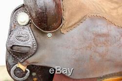 M. L. Leddy Reining Horse Western Saddle 16 Seat FQHB