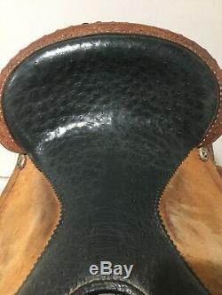 Martha Josey Circle Y Barrel Saddle 14.5 in