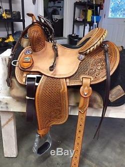 Martin 14 Fx3 custom barrel racing saddle