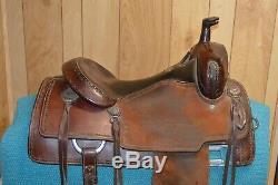 Martin Saddlery Cow Horse Ranch Western Saddle 15.5