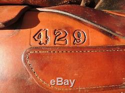 Myers ROPING SADDLE, Yukom OK Western HAND MADE15 In seat #429