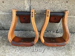 NETTLES Wooden Western Show Saddle Bell Stirrups 3 Bottoms