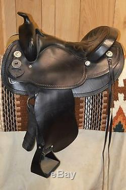 National Bridle Shop Western Trail Saddle 16 inch