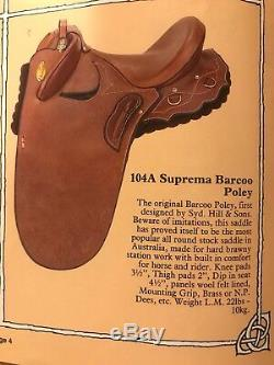 New Never Used Syd Hill 104A Suprema Baroo Poley Saddle