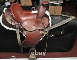 Ortho-Flex Orthoflex Western Saddle for petite rider 13.5 seat 1988 custom made