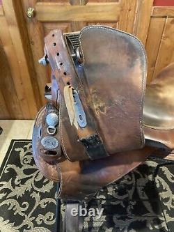 Ortho-flex Western Saddle. Original Len Brown Made In Nevada, MO. 16 Seat