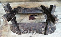 PRIMITIVE Antique Vintage Wooden Sawbuck Horse Mule WESTERN Pack Saddle