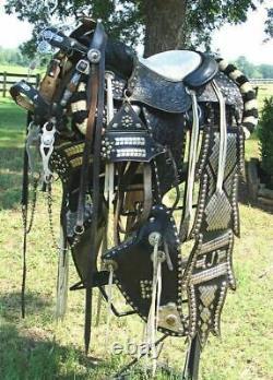 Parade Saddle with Bridle & Breast Collar, Western Saddle, Antique Saddle