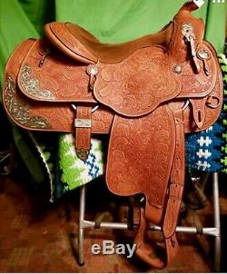 Phil Harris Western Show Saddle Work Saddle Western Dressage 15 in