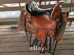 Rare Tucker Limited Ed Apache Golden High Plains Trail 17 5 Saddle