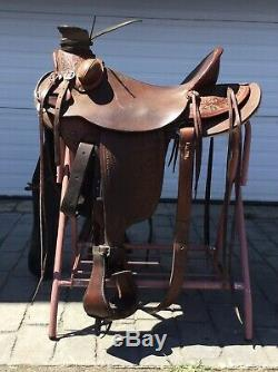 Rafter W Saddlery Wade 17 Western Ranch Saddle