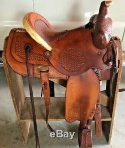 Ralph Shimon 16 Brush Colorado Western Ranch Saddle Working Roping Adj Riggin
