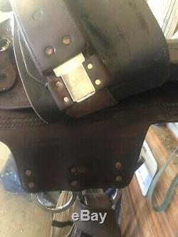 Reinsman western saddle 16