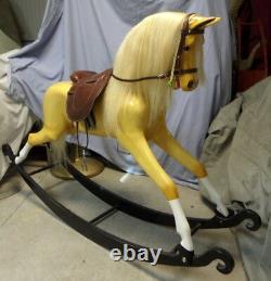 Rocking Horse, English or Western Saddle, 50 inch tall Haddon Rocking Horse