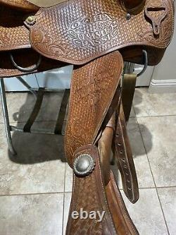 Rocking T-Greenville TX Reining All Around Western Saddle 15.5