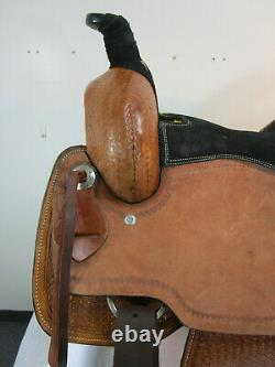 Roping Saddle Used Ranch Pleasure Tooled Leather Western Horse Tack Set 16 17