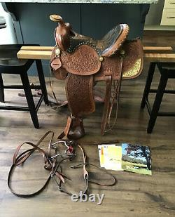 SIMCO 5545 15.5 Western Saddle Horse Ranch Team Roping Trail Pleasure Cowboy