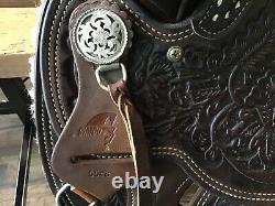 SIMCO 5548 15.5 Western Saddle Horse Ranch Team Roping Trail Pleasure Cowboy