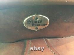 SIMCO SUPREME Western Saddle 14 Vintage Tooled Leather Ranching Western Cowboy