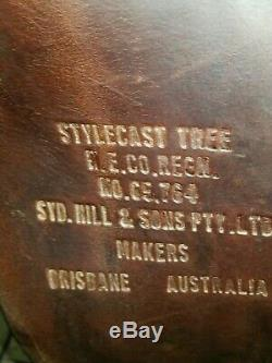 SYD HILL AUSSIE SADDLE WithHORN 17 INCH SEAT EXCELLENT CONDITION