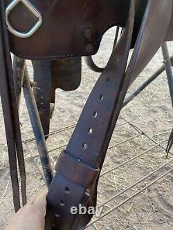 Simco Smooth Seat Western Saddle, 16 Seat