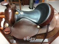 Simco western brown leather saddle 15.5 seat with breast collar