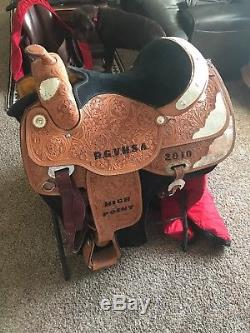 Size 16 western silver show saddle