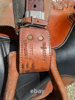 Super comfortable padded seat used 16 Tex Tan Flex Tree Western Saddle
