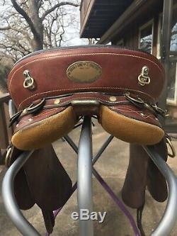 Syd Hill & Sons Suprema Super Drafter Poley Australian Saddle 16