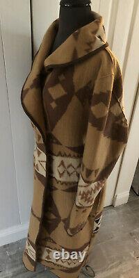 Tasha Polizzi Coat XL Park City Western Saddle Blanket Coat Tan