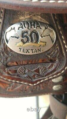 Tex Tan AQHA Western Silver Show Saddle (16 inch Seat)