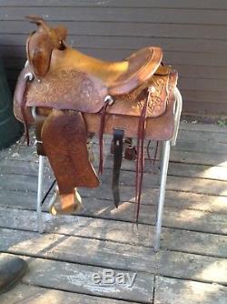 Tex Tan Brahama Brand 650 Cutting Saddle 15 inch seat Ranch Cutting