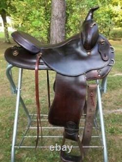 Tex Tan Flex Western Trail Endurance Saddle 15+ seat Wide Light weight SOFT