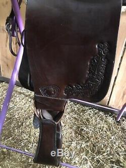 Tex Tan Hereford 17 Seat Western Saddle Gresham Trail/Pleasure Leather