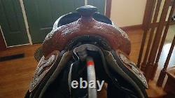 TexTan AQHA Collection Western Show Saddle. Size 15 Seat. Full Quarter Horse Bar