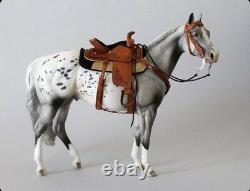 Traditional breyer / Peter stone western saddle set model horse Tack